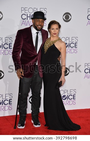 LOS ANGELES, CA - JANUARY 6, 2016: Stephen Boss & Allison Holker at the People's Choice Awards 2016 at the Microsoft Theatre LA Live. - stock photo
