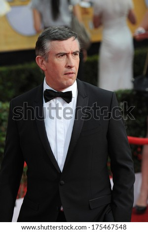 LOS ANGELES, CA - JANUARY 18, 2014: Steve Coogan at the 20th Annual Screen Actors Guild Awards at the Shrine Auditorium.
