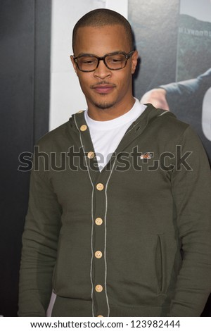 LOS ANGELES, CA - JANUARY 7: T.I. arrives at the premiere of Gangster Squad at Grauman's Chinese Theatre in Los Angeles, CA on January 7, 2013