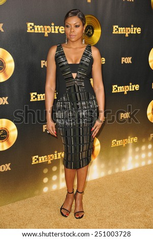 "LOS ANGELES, CA - JANUARY 6, 2015: Taraji P. Henson at the premiere of Fox's new TV series ""Empire"" at the Cinerama Dome, Hollywood.  - stock photo"