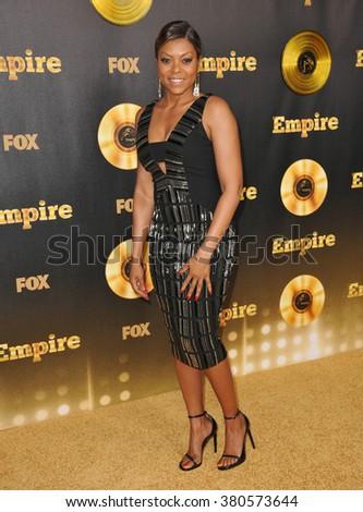 "LOS ANGELES, CA - JANUARY 6, 2015: Taraji P. Henson at the premiere of Fox's new TV series ""Empire"" at the Cinerama Dome, Hollywood. - stock photo"