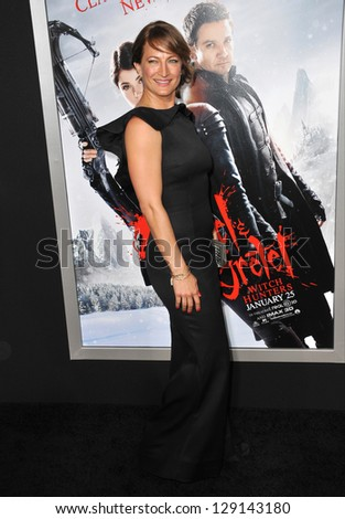 "LOS ANGELES, CA - JANUARY 24, 2013: Zoe Bell at the Los Angeles premiere of ""Hansel & Gretel: Witch Hunters"" at Grauman's Chinese Theatre, Hollywood. - stock photo"