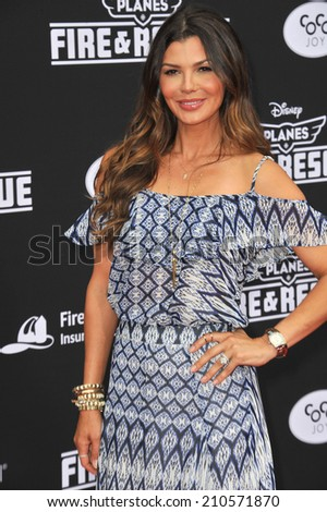 "LOS ANGELES, CA - JULY 15, 2014: Ali Landry at the world premiere of Disney's ""Planes: Fire & Rescue"" at the El Capitan Theatre, Hollywood.  - stock photo"