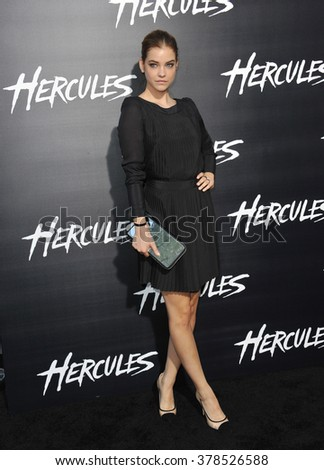 """LOS ANGELES, CA - JULY 23, 2014: Barbara Palvin at the premiere of her movie  """"Hercules"""" at the TCL Chinese Theatre, Hollywood. - stock photo"""