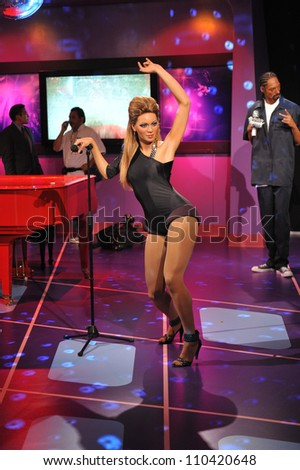 LOS ANGELES, CA - JULY 21, 2009: Beyonce Knowles waxwork figure - grand opening of Madame Tussauds Hollywood. - stock photo