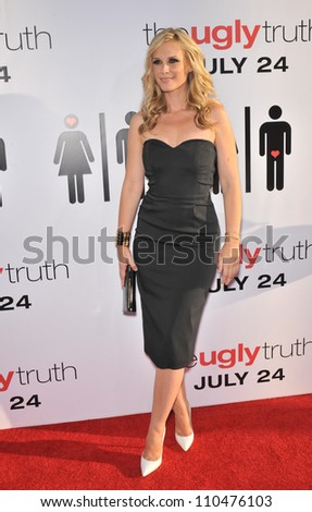 "LOS ANGELES, CA - JULY 16, 2009: Bonnie Somerville at the premiere of her new movie ""The Ugly Truth"" at the Cinerama Dome, Hollywood."