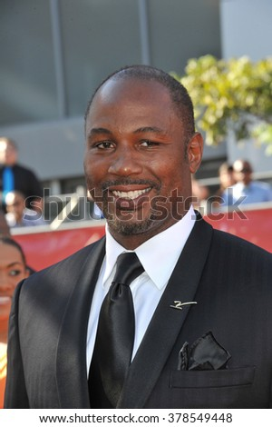 LOS ANGELES, CA - JULY 16, 2014: Boxer Lennox Lewis at the 2014 ESPY Awards at the Nokia Theatre LA Live. - stock photo