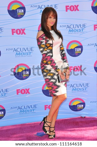 LOS ANGELES, CA - JULY 23, 2012: Debby Ryan at the 2012 Teen Choice Awards at the Gibson Amphitheatre, Universal City.