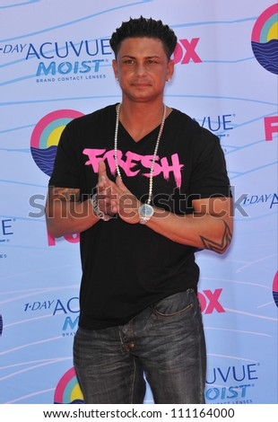LOS ANGELES, CA - JULY 23, 2012: DJ Pauly D (aka Paul Delvecchio) at the 2012 Teen Choice Awards at the Gibson Amphitheatre, Universal City.