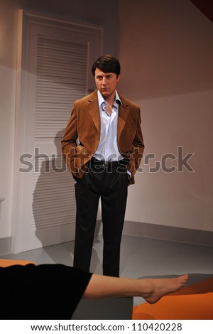 LOS ANGELES, CA - JULY 21, 2009: Dustin Hoffman waxwork figure - grand opening of Madame Tussauds Hollywood. - stock photo