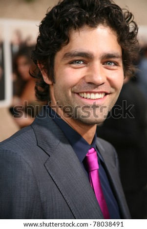 LOS ANGELES, CA - JULY 9: Entourage cast member, Adrian Grenier shows up to the sixth season premiere on the Paramount Pictures lot in Los Angeles, CA on July 9, 2009. - stock photo