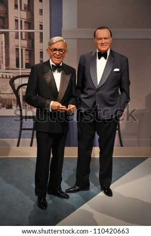 LOS ANGELES, CA - JULY 21, 2009: George Burns & Bob Hope waxwork figure - grand opening of Madame Tussauds Hollywood.
