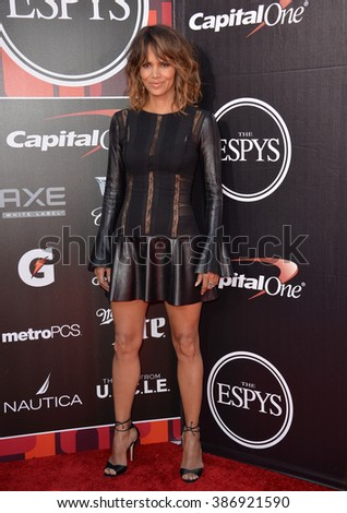 LOS ANGELES, CA - JULY 15, 2015: Halle Berry at the 2015 ESPY Awards at the Microsoft Theatre LA Live. - stock photo