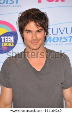 LOS ANGELES, CA - JULY 23, 2012: Ian Somerhalder at the 2012 Teen Choice Awards at the Gibson Amphitheatre, Universal City. - stock photo