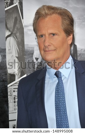 LOS ANGELES, CA - JULY 10, 2013: Jeff Daniels at the season two premiere of HBO's The Newsroom at Paramount Studios, Hollywood.  - stock photo
