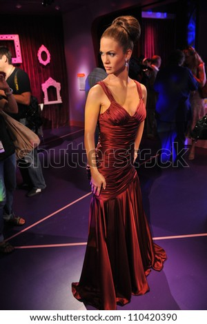 LOS ANGELES, CA - JULY 21, 2009: Jennifer Lopez waxwork figure - grand opening of Madame Tussauds Hollywood. - stock photo