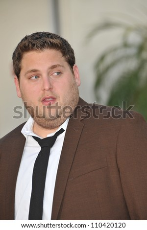 "LOS ANGELES, CA - JULY 20, 2009: Jonah Hill at the world premiere of ""Funny People"" at the Arclight Theatre, Hollywood. - stock photo"