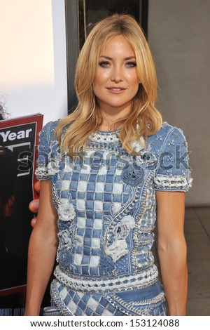 "LOS ANGELES, CA - JULY 31, 2013: Kate Hudson at the Los Angeles premiere for her HBO film ""Clear History"" at the Cinerama Dome, Hollywood.  - stock photo"
