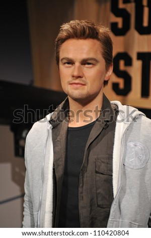 LOS ANGELES, CA - JULY 21, 2009: Leonardo DiCaprio waxwork figure - grand opening of Madame Tussauds Hollywood. - stock photo