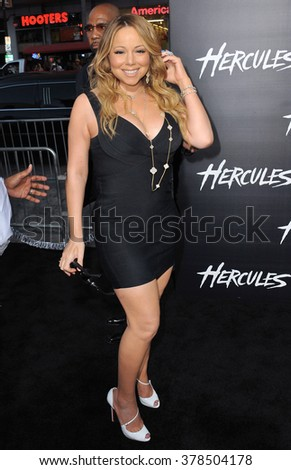 """LOS ANGELES, CA - JULY 23, 2014: Mariah Carey at the premiere of """"Hercules"""" at the TCL Chinese Theatre, Hollywood. - stock photo"""