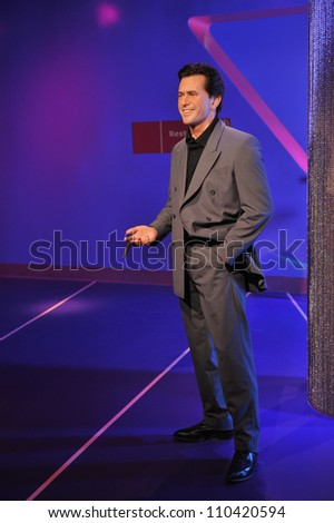 LOS ANGELES, CA - JULY 21, 2009: Mel Gibson waxwork figure - grand opening of Madame Tussauds Hollywood. - stock photo
