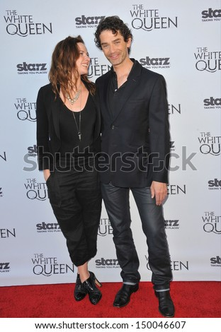 "LOS ANGELES, CA - JULY 25, 2013: Rebecca Ferguson & James Frain at launch party in Los Angeles for their TV series ""The White Queen"" at the British Consul's residence."