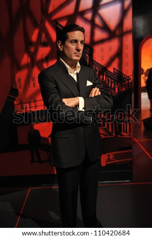 LOS ANGELES, CA - JULY 21, 2009: Robert De Niro waxwork figure - grand opening of Madame Tussauds Hollywood. - stock photo