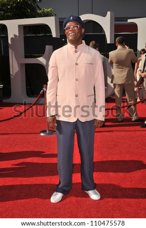 LOS ANGELES, CA - JULY 15, 2009: Samuel L. Jackson at the 2009 ESPY Awards at the Nokia L.A. Live Theatre, Los Angeles. - stock photo