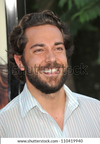 "LOS ANGELES, CA - JULY 20, 2009: Zachary Levi at the world premiere of ""Funny People"" at the Arclight Theatre, Hollywood."