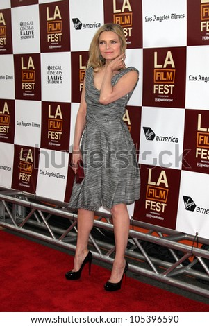 "LOS ANGELES, CA - JUN 15: Michelle Pfeiffer at the ""People Like Us"" LAFF Premiere at Regal Cinemas at LA Live on June 15, 2012 in Los Angeles, California"