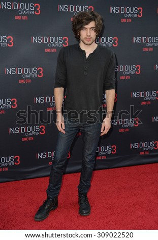 LOS ANGELES, CA - JUNE 5, 2015: Actor Carter Jenkins at the world premiere of Insidious Chapter 3 at the TCL Chinese Theatre, Hollywood.