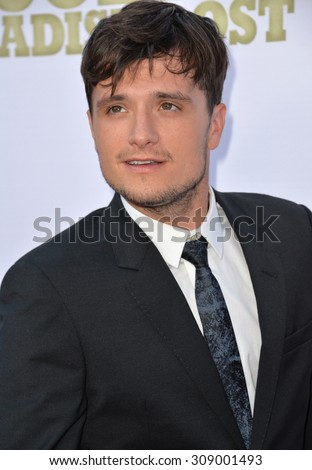 "LOS ANGELES, CA - JUNE 22, 2015: Actor Josh Hutcherson at the Los Angeles premiere of his movie ""Escobar: Paradise Lost"" at the Arclight Theatre, Hollywood."