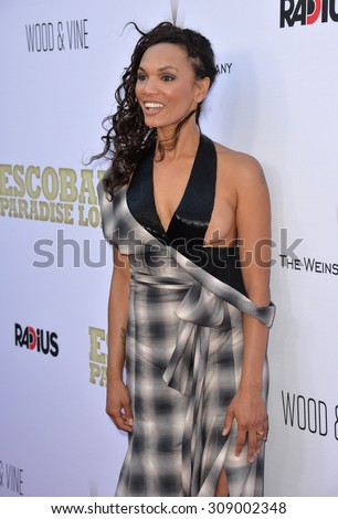 "LOS ANGELES, CA - JUNE 22, 2015: Actress Amber Dixon Brenner at the Los Angeles premiere of ""Escobar: Paradise Lost"" at the Arclight Theatre, Hollywood.   - stock photo"