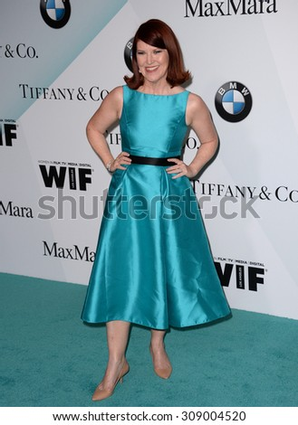 LOS ANGELES, CA - JUNE 16, 2015: Actress Kate Flannery at the Women in Film 2015 Crystal + Lucy Awards at the Hyatt Regency Century Plaza Hotel.   - stock photo