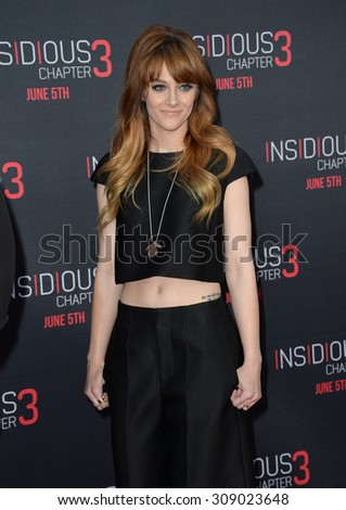 LOS ANGELES, CA - JUNE 5, 2015: Actress/singer Aubrey Peeples at the world premiere of Insidious Chapter 3 at the TCL Chinese Theatre, Hollywood.