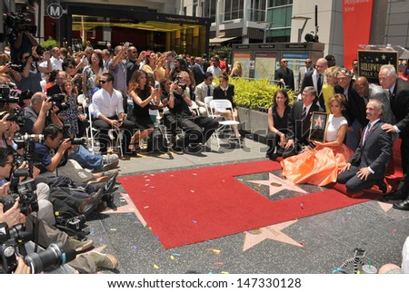 LOS ANGELES, CA - JUNE 20, 2013: Actress/singer Jennifer Lopez on Hollywood Blvd where she was honored with the 2,500th star on the Hollywood Walk of Fame.