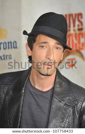 LOS ANGELES, CA - JUNE 5, 2010: Adrien Brody at Spike TV's Guys Choice Awards 2010 at Sony Studios, Culver City.