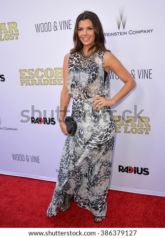 "LOS ANGELES, CA - JUNE 22, 2015: Ali Landry at the Los Angeles premiere of ""Escobar: Paradise Lost"" at the Arclight Theatre, Hollywood."