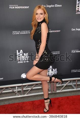 """LOS ANGELES, CA - JUNE 14, 2015: Bella Thorne at the LA Film Festival premiere of MTV's """"Scream"""" at the Regal Cinema LA Live. - stock photo"""