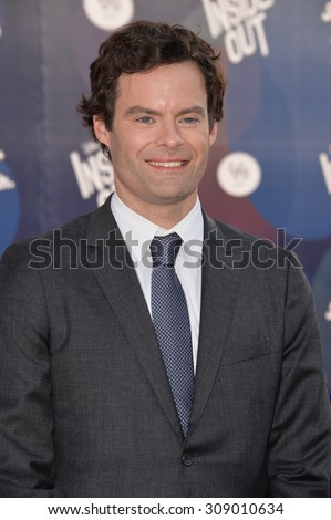 """LOS ANGELES, CA - JUNE 9, 2015: Bill Hader at the Los Angeles premiere of his movie Disney-Pixar's """"Inside Out"""" at the El Capitan Theatre, Hollywood.  - stock photo"""
