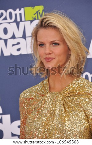 LOS ANGELES, CA - JUNE 5, 2011: Brooklyn Decker at the 2011 MTV Movie Awards at the Gibson Amphitheatre, Universal Studios, Hollywood. June 5, 2011  Los Angeles, CA