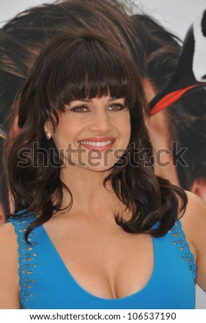 "LOS ANGELES, CA - JUNE 12, 2011: Carla Gugino at the premiere of ""Mr. Popper's Penguins"" at Grauman's Chinese Theatre, Hollywood. June 12, 2011  Los Angeles, CA"