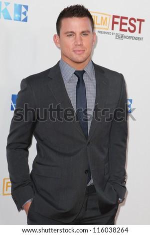LOS ANGELES, CA - JUNE 24: Channing Tatum arrives at Warner Bros premiere of 'Magic Mike' at Regal Cinemas LA Live on June 24, 2012 in Los Angeles, California. - stock photo
