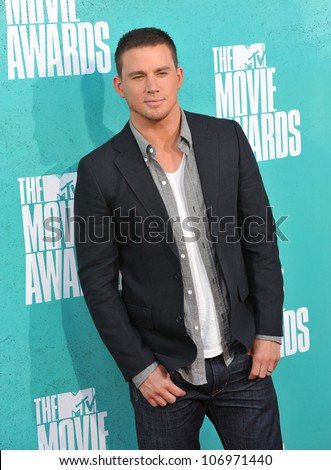 LOS ANGELES, CA - JUNE 4, 2012: Channing Tatum at the 2012 MTV Movie Awards at Universal Studios, Hollywood. June 4, 2012  Los Angeles, CA - stock photo