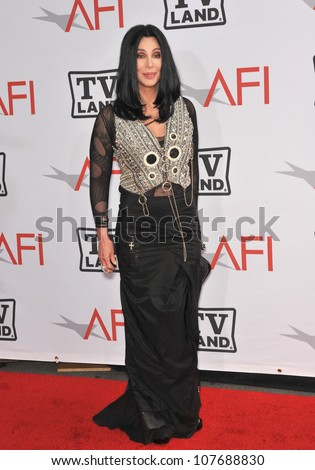 LOS ANGELES, CA - JUNE 10, 2010: Cher at the 2010 AFI Life achievement Award Gala, honoring director Mike Nichols, at Sony Studios, Culver City, CA. - stock photo
