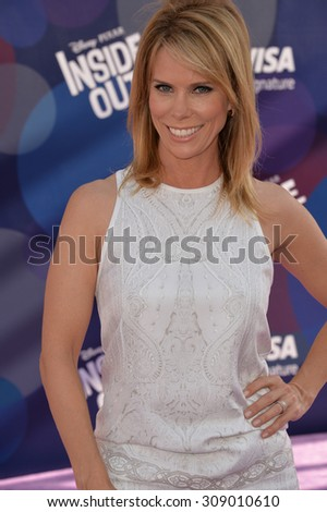 """LOS ANGELES, CA - JUNE 9, 2015: Cheryl Hines at the Los Angeles premiere of Disney-Pixar's """"Inside Out"""" at the El Capitan Theatre, Hollywood.  - stock photo"""