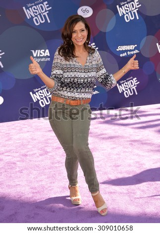 """LOS ANGELES, CA - JUNE 9, 2015: Constance Marie at the Los Angeles premiere of Disney-Pixar's """"Inside Out"""" at the El Capitan Theatre, Hollywood.  - stock photo"""