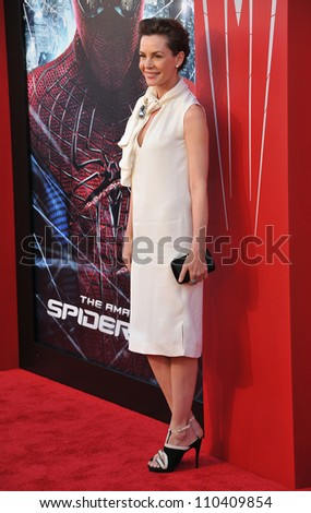 "LOS ANGELES, CA - JUNE 29, 2012: Embeth Davidtz at the world premiere of her movie ""The Amazing Spider-Man"" at Regency Village Theatre, Westwood."