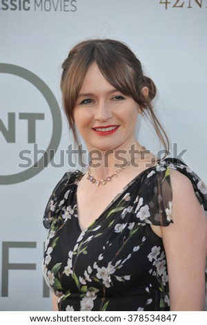 LOS ANGELES, CA - JUNE 5, 2014: Emily Mortimer at the 2014 American Film Institute's Life Achievement Awards honoring Jane Fonda, at the Dolby Theatre, Hollywood.