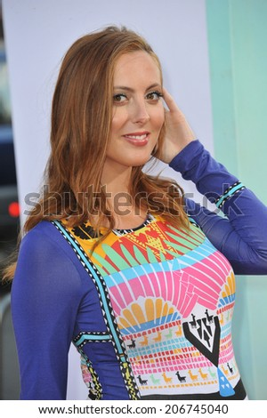 "LOS ANGELES, CA - JUNE 30, 2014: Eva Amurri Martino at the premiere of ""Tammy"" at the TCL Chinese Theatre, Hollywood.  - stock photo"